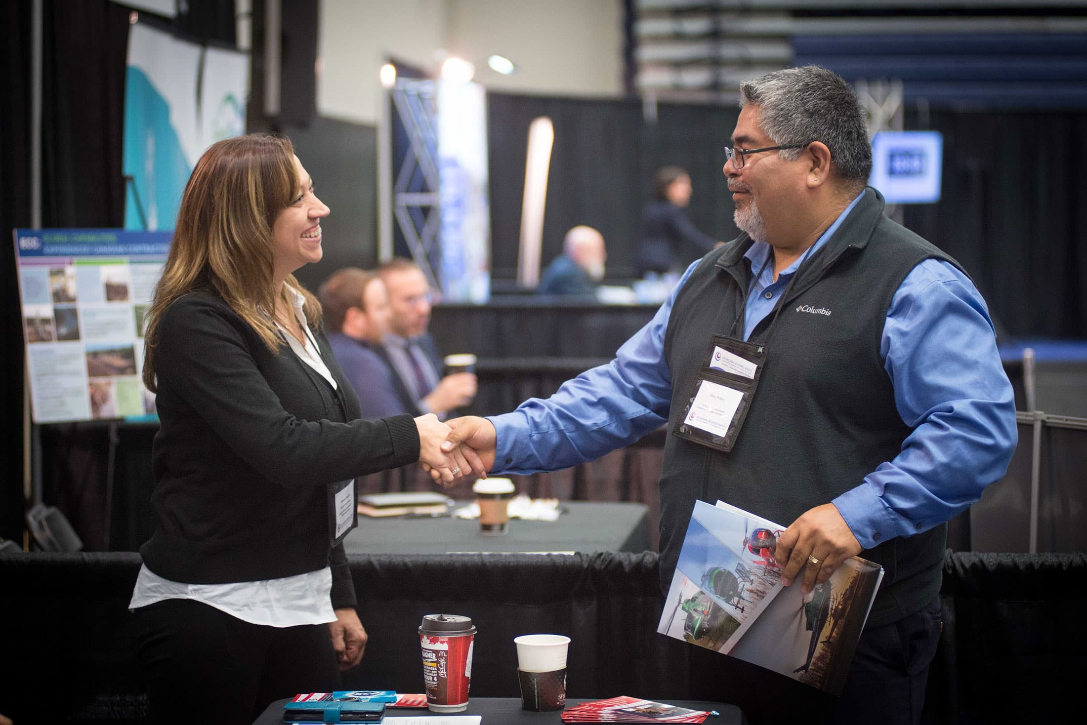 advanced business match handshake