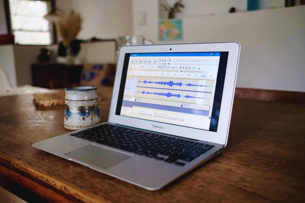 Podcast software called Audacity on your laptop