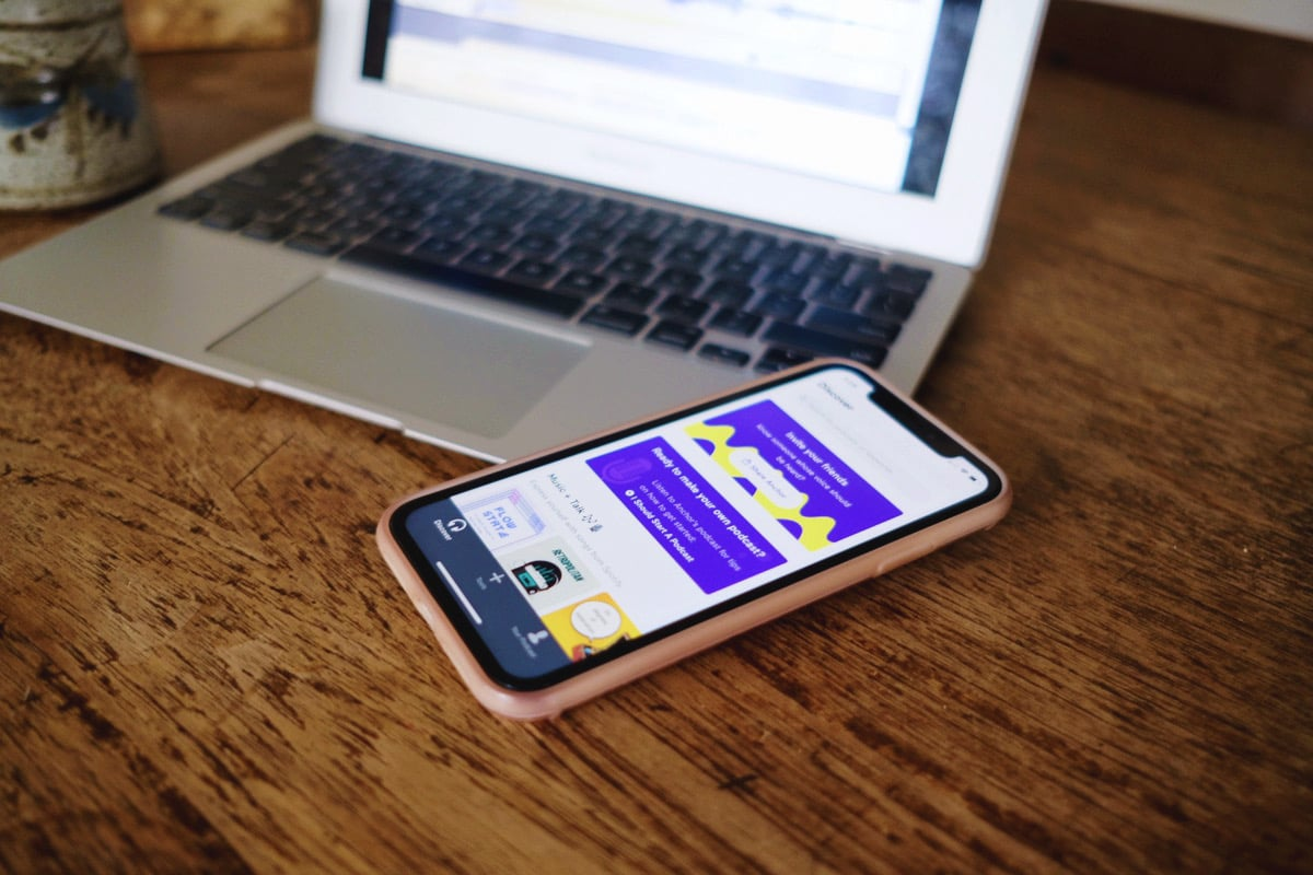 The app called Anchor for podcasts on your smartphone
